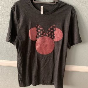 Tops - Rose Gold Minnie Mouse Tee